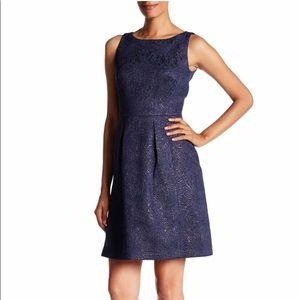 Tahari ASL Navy Blue Sleeveless Dress